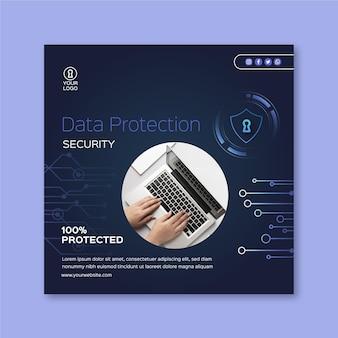 Quadrado do folheto de segurança cibernética