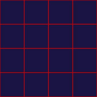 Quadrado vermelho grade fundo azul royal