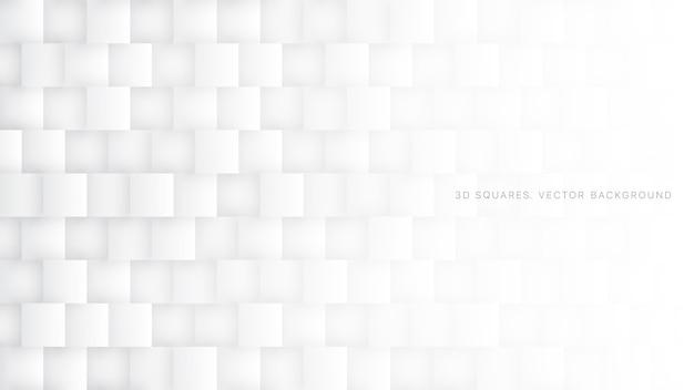Quadrados 3d brancos abstraem luz de fundo