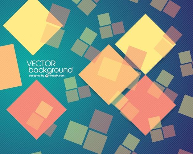 Quadrados abstratos do vetor