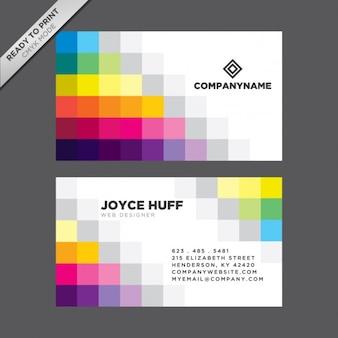 Quadrados coloridos cartão de visita