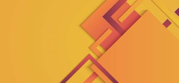 Quadrados geométricos amarelo e vermelho gradiente cor de fundo estilo moderno