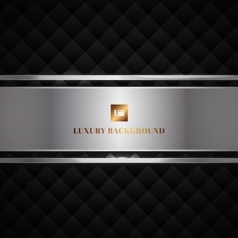 Quadrados geométricos de luxo abstrato preto