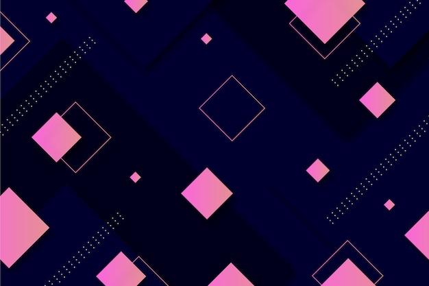 Quadrados gradientes em fundo escuro