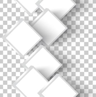 Quadrados vetoriais brancos