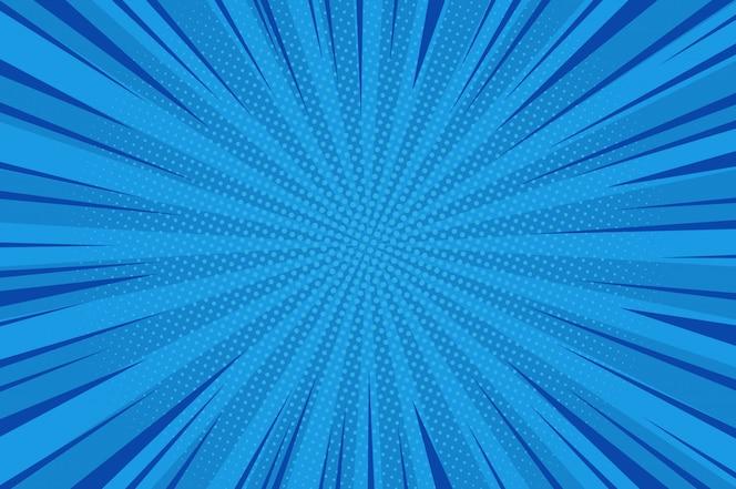 Quadrinhos abstrato azul