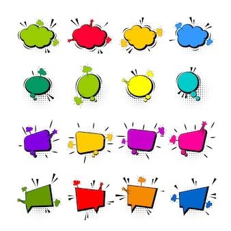 Quadrinhos coloridos balão vazio para texto