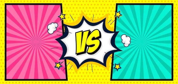 Quadrinhos coloridos versus fundo de desenhos animados