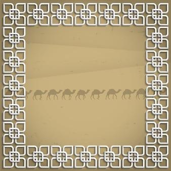 Quadro 3d em estilo árabe