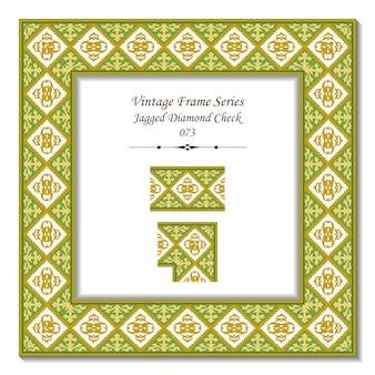 Quadro 3d vintage do jagged diamond check