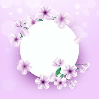 Quadro abstrato circular realista primavera floral