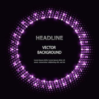 Quadro abstrato círculo violeta