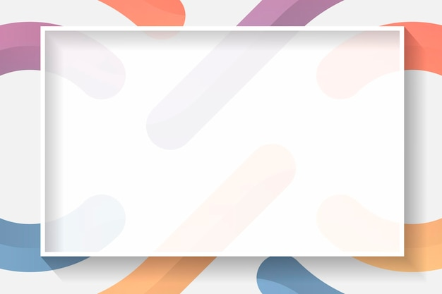 Quadro abstrato colorido de retângulo em branco
