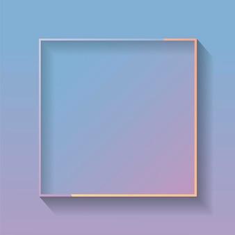 Quadro abstrato colorido quadrado em branco