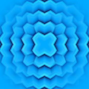 Quadro abstrato com folhas azuis