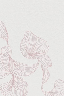 Quadro abstrato floral rosa