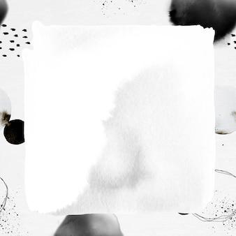 Quadro abstrato pincel de tinta com fundo estampado