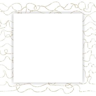 Quadro abstrato quadrado em branco