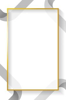 Quadro abstrato retângulo em branco