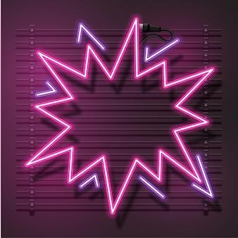Quadro abstrato rosa. sinal de neon