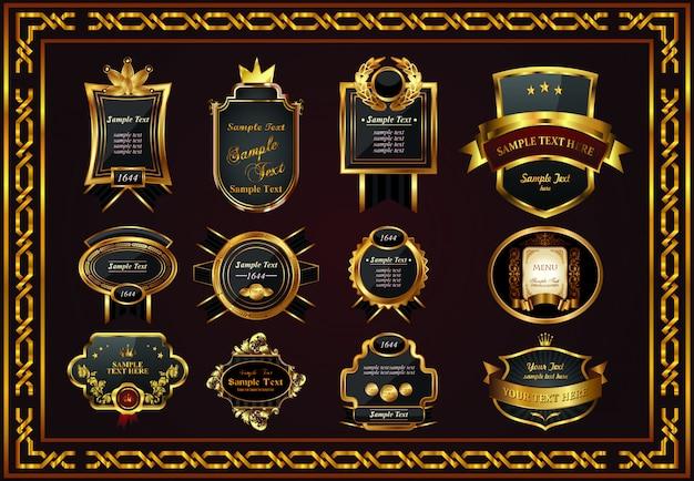 Quadro belo certificado agradável para você designer cor de ouro