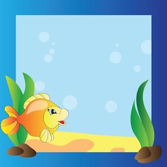 Quadro brilhante - a vida marinha - desenho vetorial