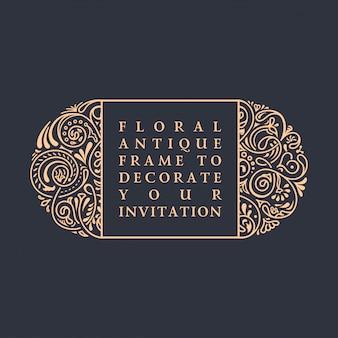 Quadro caligráfico floral