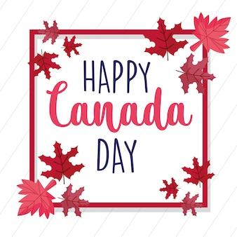 Quadro canadense maple folhas de feliz dia do canadá