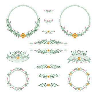 Quadro casamento design floral vintage