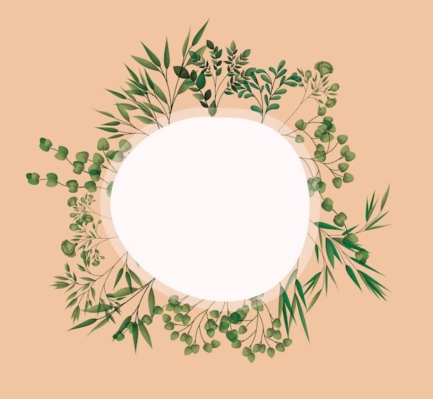 Quadro circular com folhas de louro