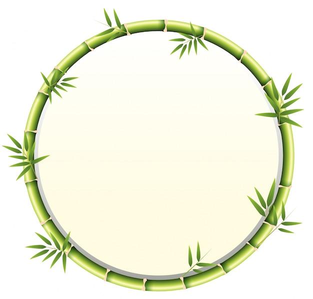 Quadro circular de bambu