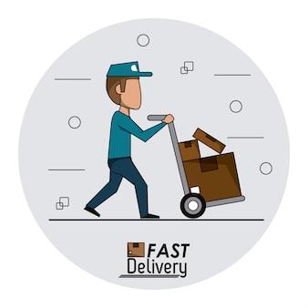 Quadro circular de entrega rápida