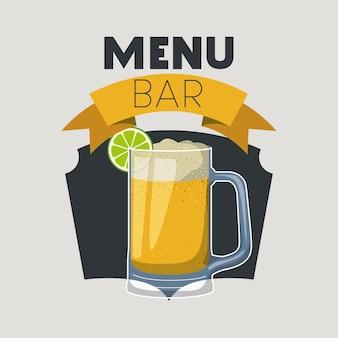 Quadro cocktail fresco e tropical