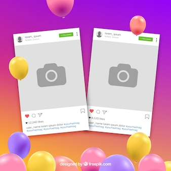 Quadro colorido instagram