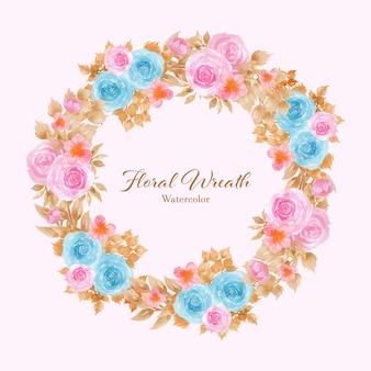 Quadro com coroa de flores