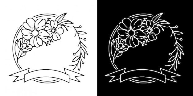 Quadro com design de flor monoline