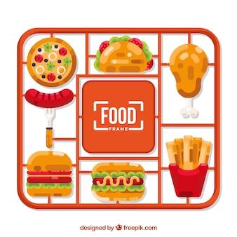 Quadro com fast food