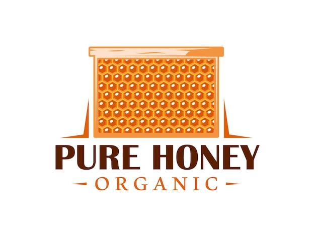 Quadro com favos de mel isolado no fundo branco
