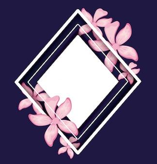 Quadro com folhas tropicais decorativas