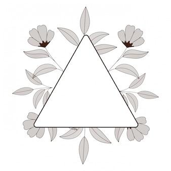 Quadro com ícone isolado de flores