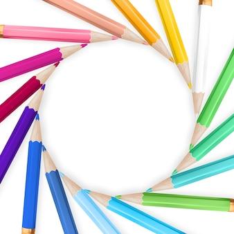 Quadro com lápis de cor.