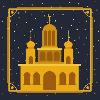 Quadro com o edifício da mesquita dourada