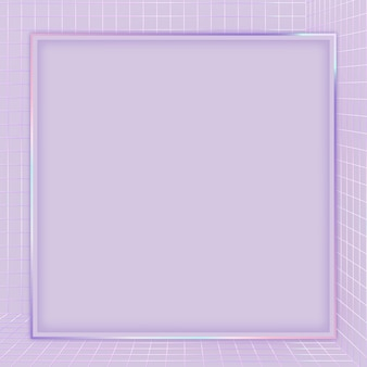 Quadro com padrão de grade 3d roxo