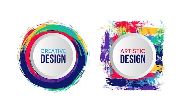 Quadro criativo para texto com estilo artístico e colorido