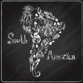 Quadro da américa do sul