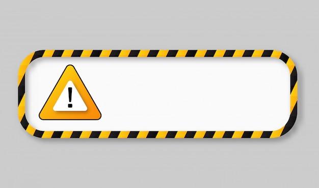 Quadro de banner de aviso de fita de precaução