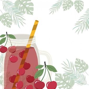 Quadro de bebida refrescante para o verão