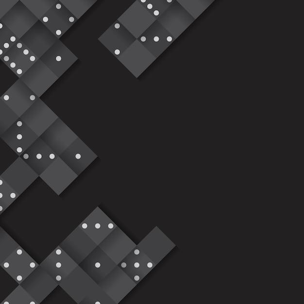 Quadro de blocos pretos no vetor de fundo preto em branco