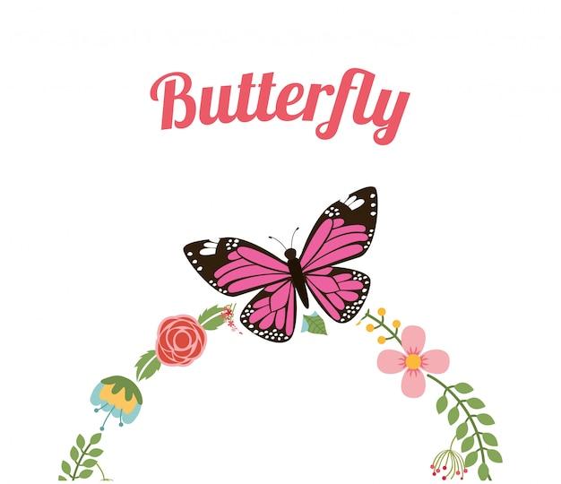 Quadro de borboleta linda