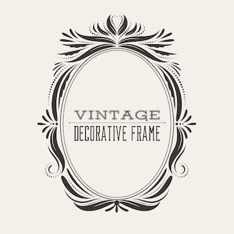 Quadro de borda vintage vitoriano estilo oval